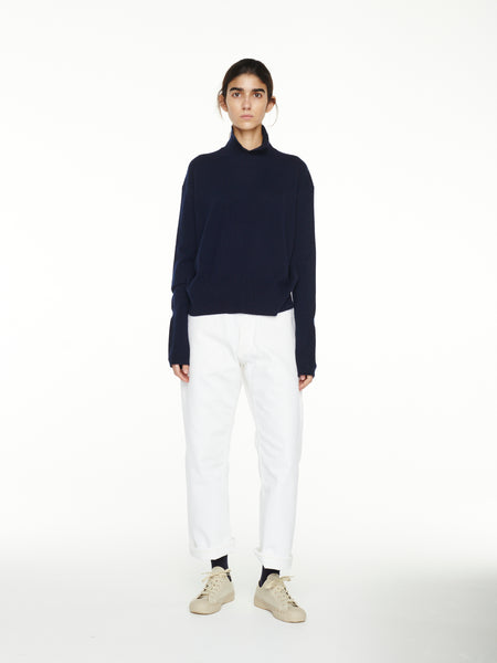 Ueda Cashmere Knit In Dark Navy