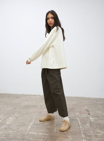 SNJP UNCHIKO Long Sleeve Jersey Top in Off White