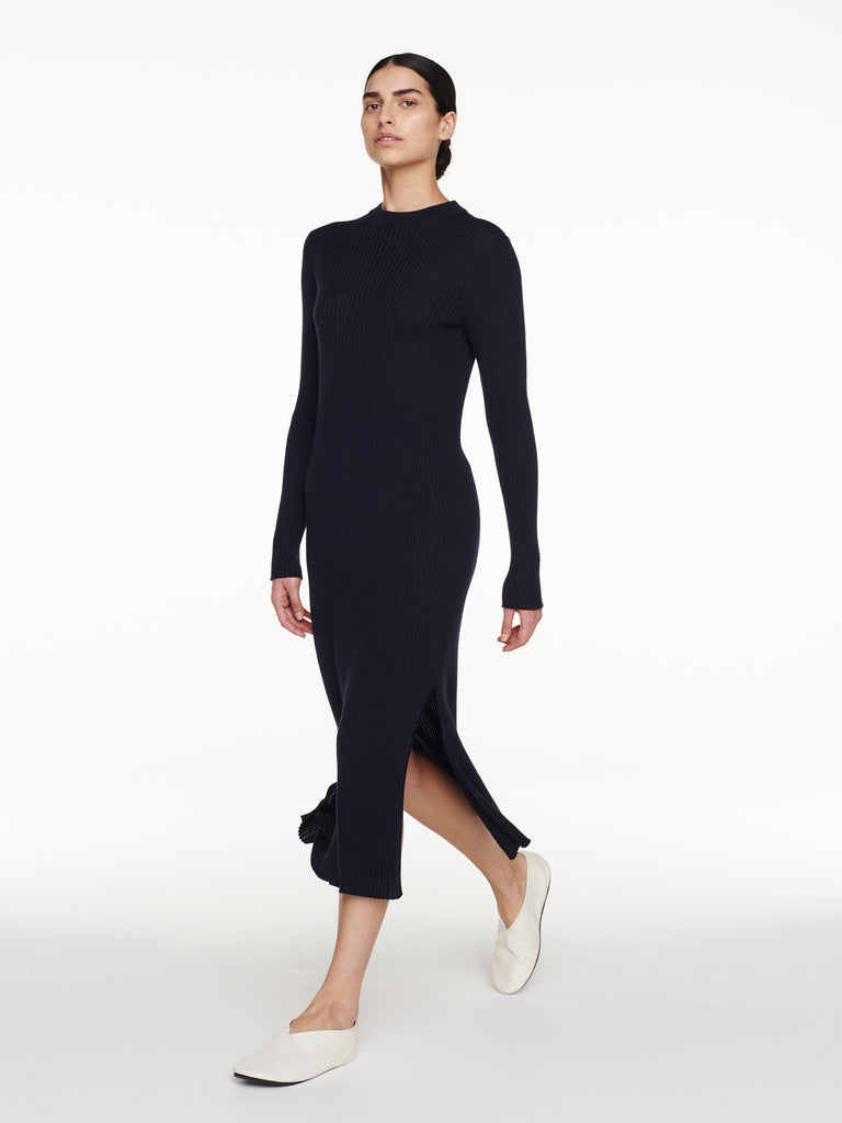 Vico Dress in Dark Navy