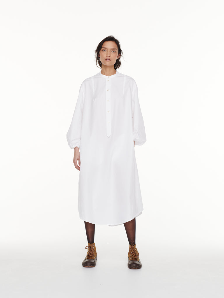 Villeroy Shirt Dress in Optic White