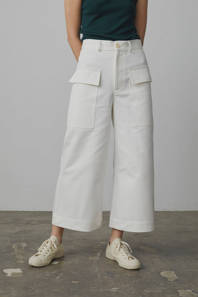 Ventura Cropped Flare In Ivory