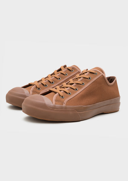 Merino Vulcanised Sole Canvas Shoe In Walnut