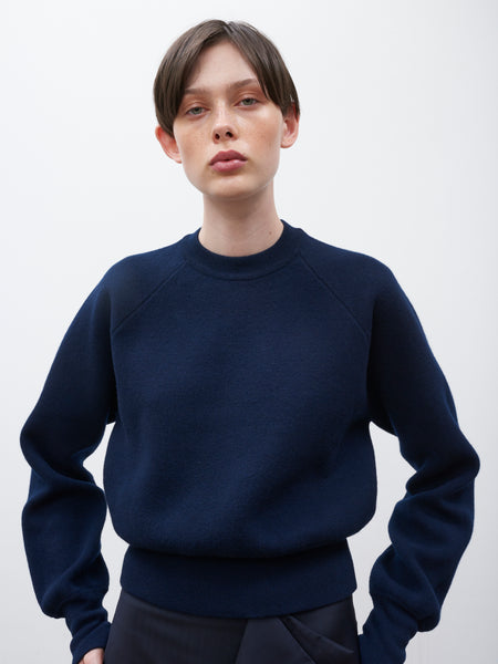 Watt Knitted Sweatshirt in Dark Navy