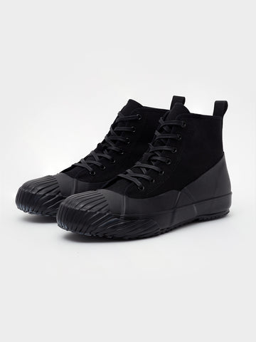 Melton Vulcanised Sole Rain Boot In Black