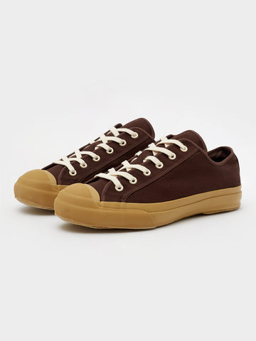 Merino Vulcanised Sole Canvas Shoe In Chocolate