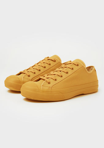 Merino Vulcanised Sole Canvas Shoe In Mustard