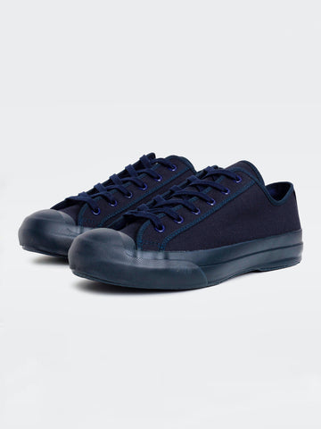 Merino Vulcanised Sole Canvas Shoe In Navy