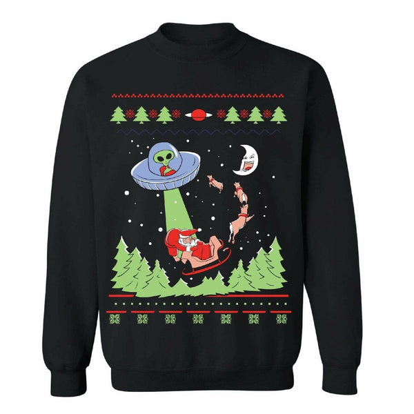 ALIEN INVASION - Ugly Christmas Sweater - Good Times Fo Sho