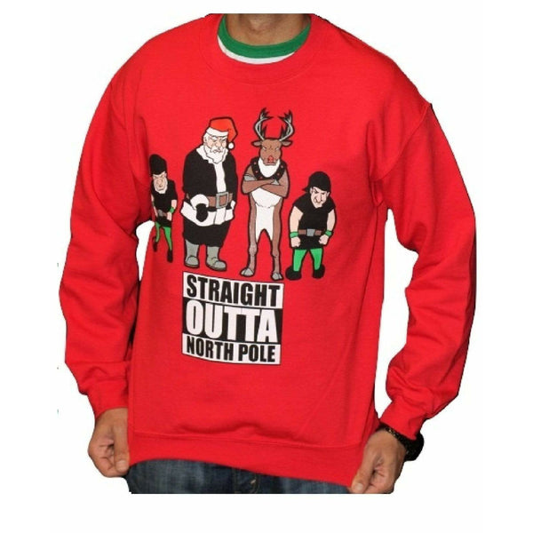 STRAIGHT OUTTA NORTH POLE - Red