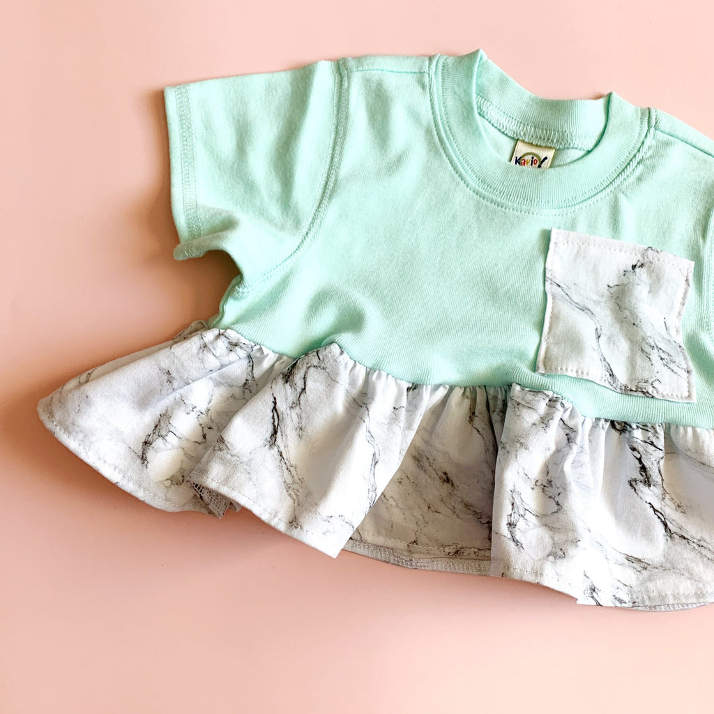 Pocket Crop Top - Marble