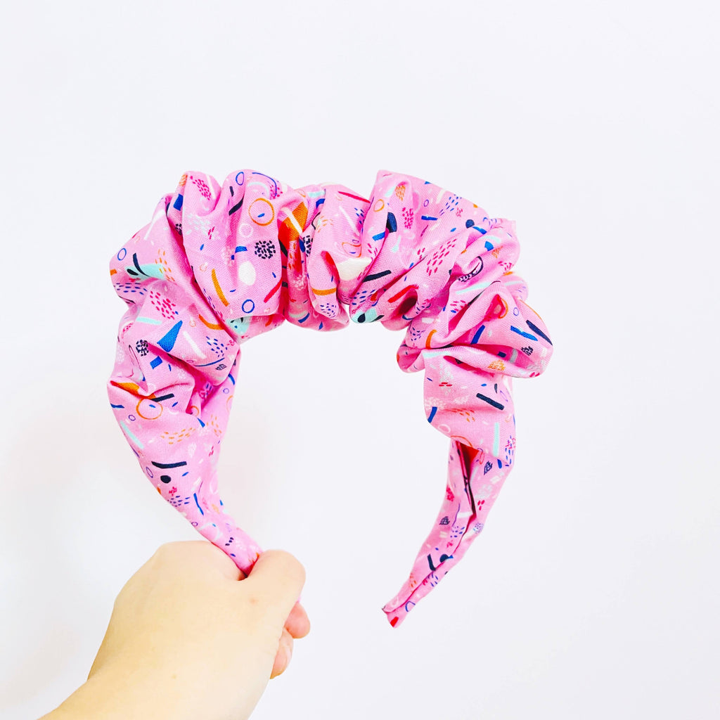 handmade scrunched headband, the crown