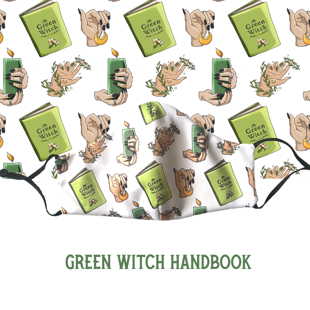 Handmade Mask - Green Witch Handbook