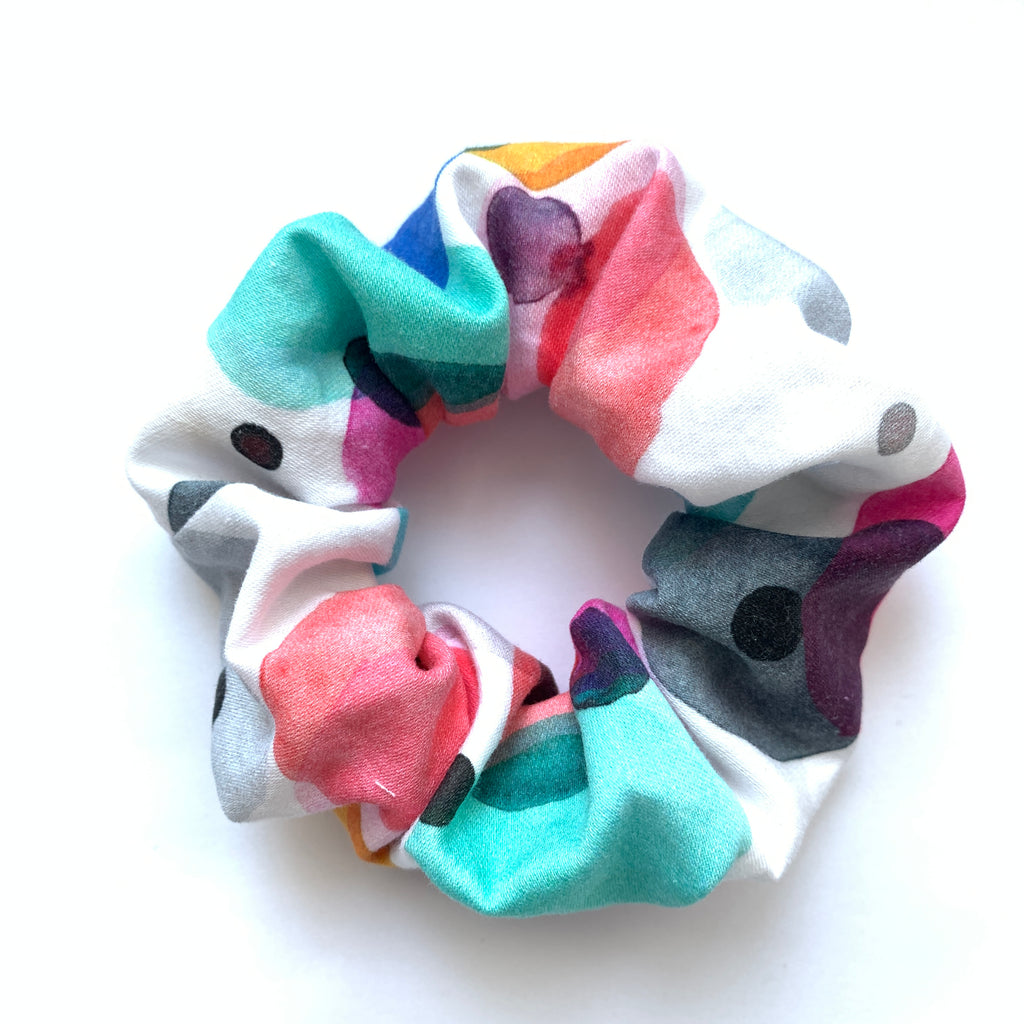 Scrunchie - Watercolor Confetti