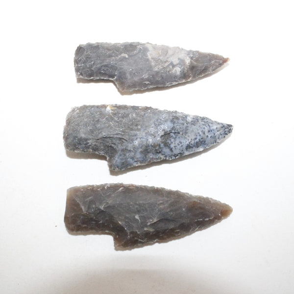 3 Small Stone Ornamental Knife Blades  #8714  Mountain Man Knife