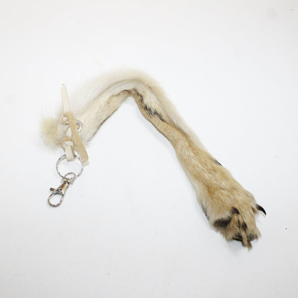 Coyote Foot Key Ring #911  Taxidermy Keychain Tassel Bag Tag