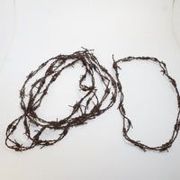 5 Leather Barbed Wire Necklace Antique Brown Colored   #90D  Bracelet Hat Band