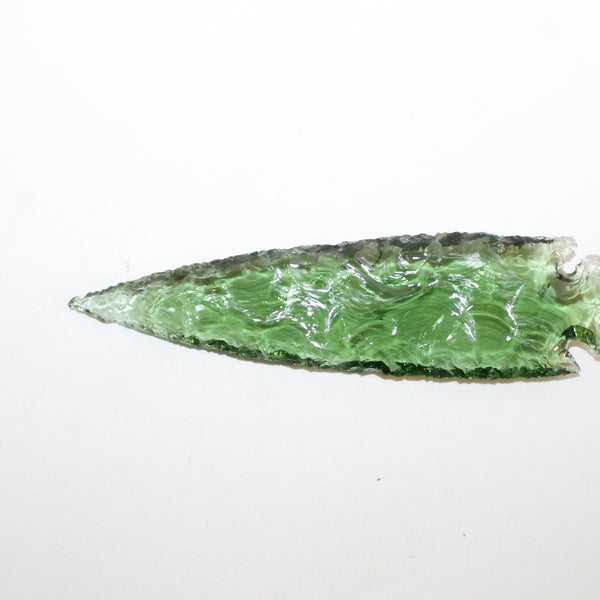 1 Glass Ornamental Spearhead  #512  Arrowhead