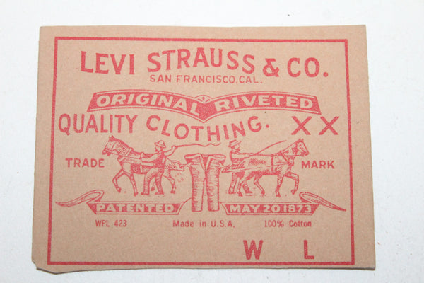Levi Strauss & Co.  red label tag   new 390 bookmark