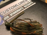Flippin Jig - Hot Avocado - 911CustomLures.com
