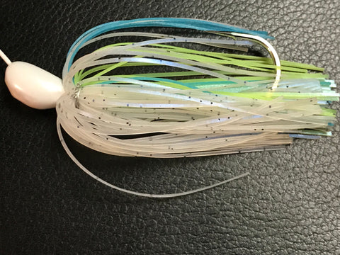 Spinnerbait - Hidden Weight - Double Colorado - Light Sexy Shad - 911CustomLures.com