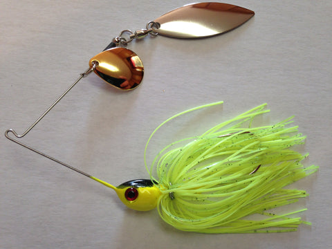 Spinnerbait - Shad Head - Tandem - Blended Chartreuse - 911CustomLures.com