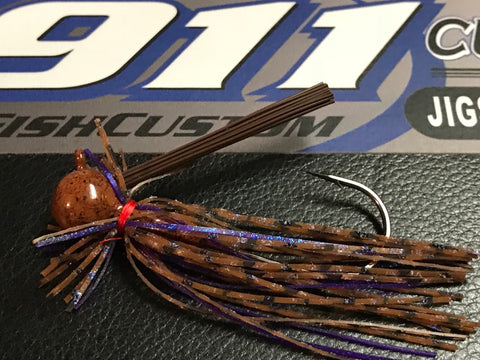 Jig - Finesse - Round Head - PB&J - 911CustomLures.com