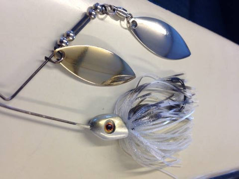 Spinnerbait - Hidden Weight - Double Willow - LI Blue Shad - 911CustomLures.com