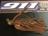 Flippin Jig - Army Green Pumpkin Pepper - 911CustomLures.com