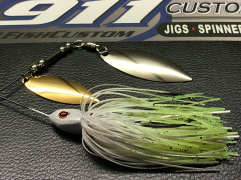 Spinnerbait - Hidden Weight - Double Willow - KP-1 - 911CustomLures.com