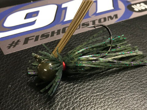 Jig - Finesse - Round Head - Watermelon Candy - 911CustomLures.com