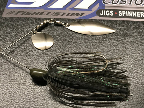 Spinnerbait - Hidden Weight - Double Willow - Mouse - 911CustomLures.com