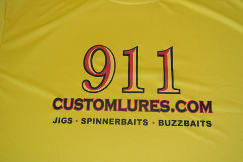 Shirts - Performance Shirt - Gold - 911CustomLures.com