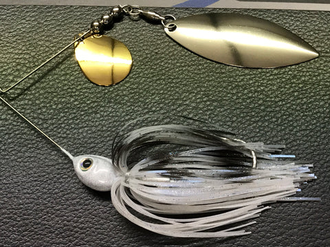 Spinnerbait - Shad Head - Tandem - LI Blue Shad - 911CustomLures.com