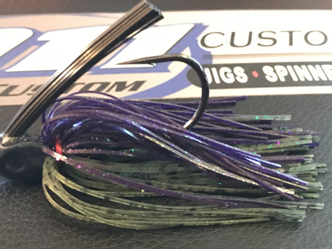 Swim Jig - ProSwim - Sprayed Grass - 911CustomLures.com