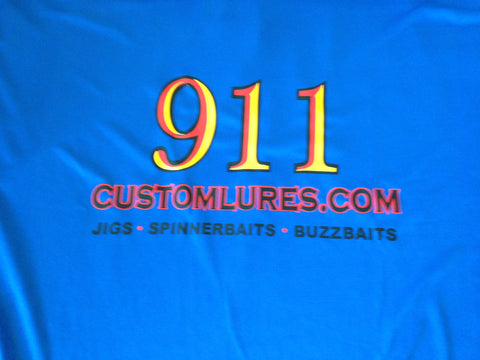 Shirts - Performance Shirt - Royal Blue - 911CustomLures.com