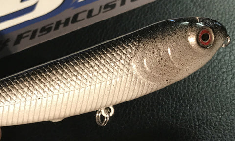 "Topwater - Sammy 4"" - River Shad - 911CustomLures.com"
