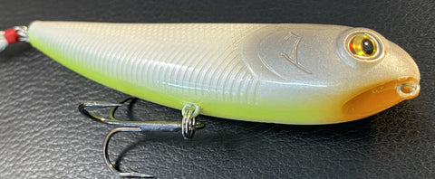 "Topwater - Sammy 4"" - Shad - Chart belly - 911CustomLures.com"