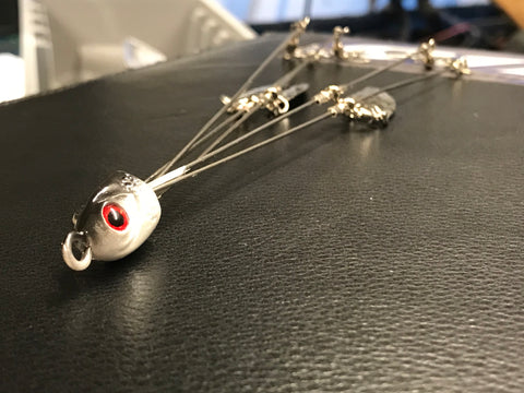 "Umbrella Rig - 1/2oz - 5 arm - 7"" - 4 Blade - 911CustomLures.com"