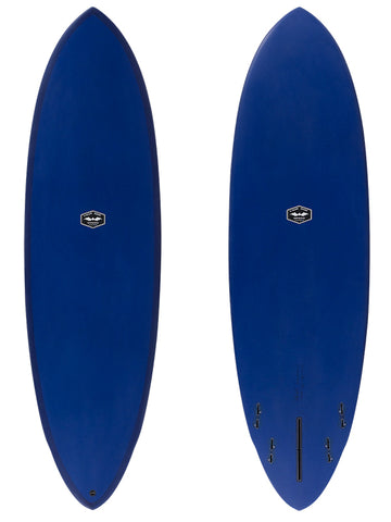 "CJ Nelson Surfboards - 6'4"" Music Hybrid Fun Shape Surfboard / Full XEON Fiberglass"