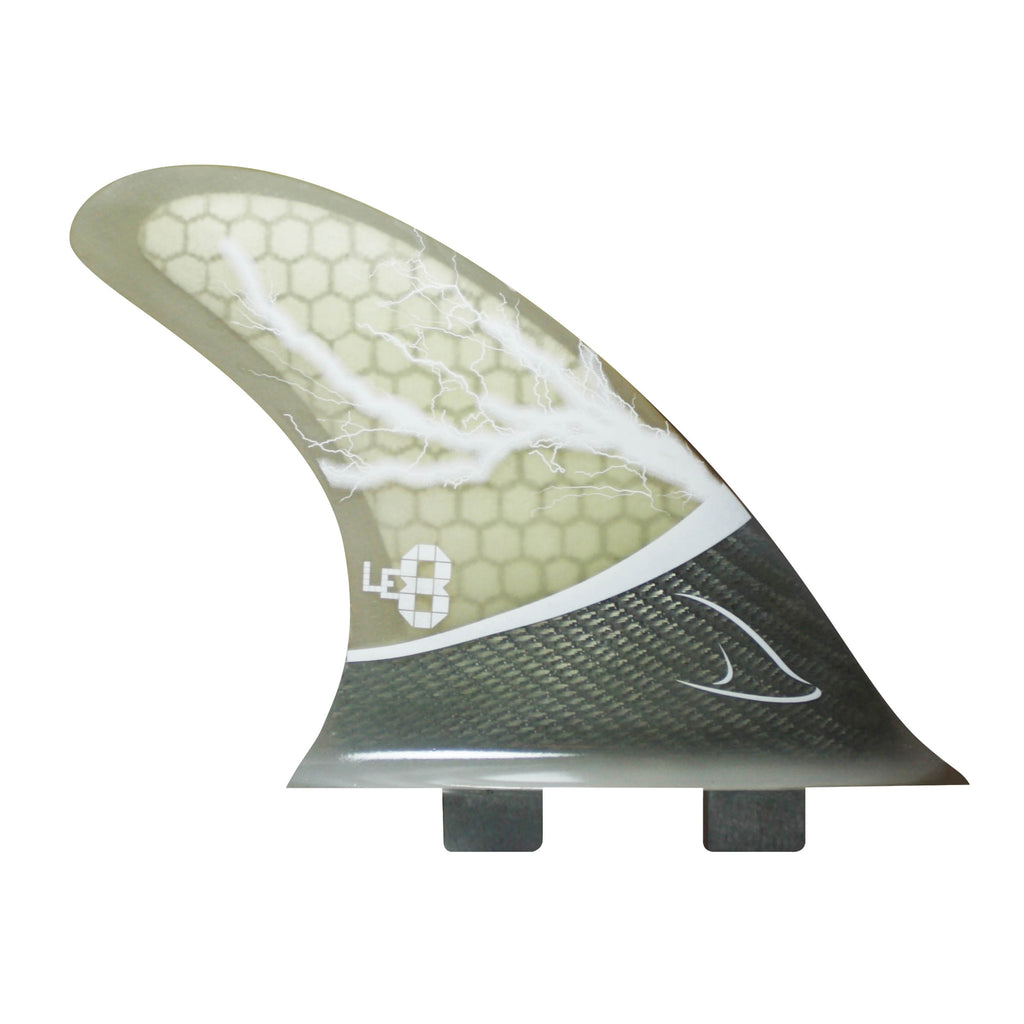 Quad Fins Glass Tex - Clear