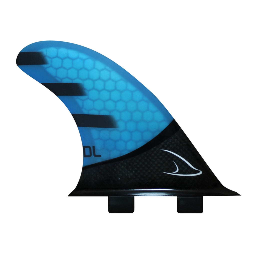Tri Fins Glass Carbon - Blue
