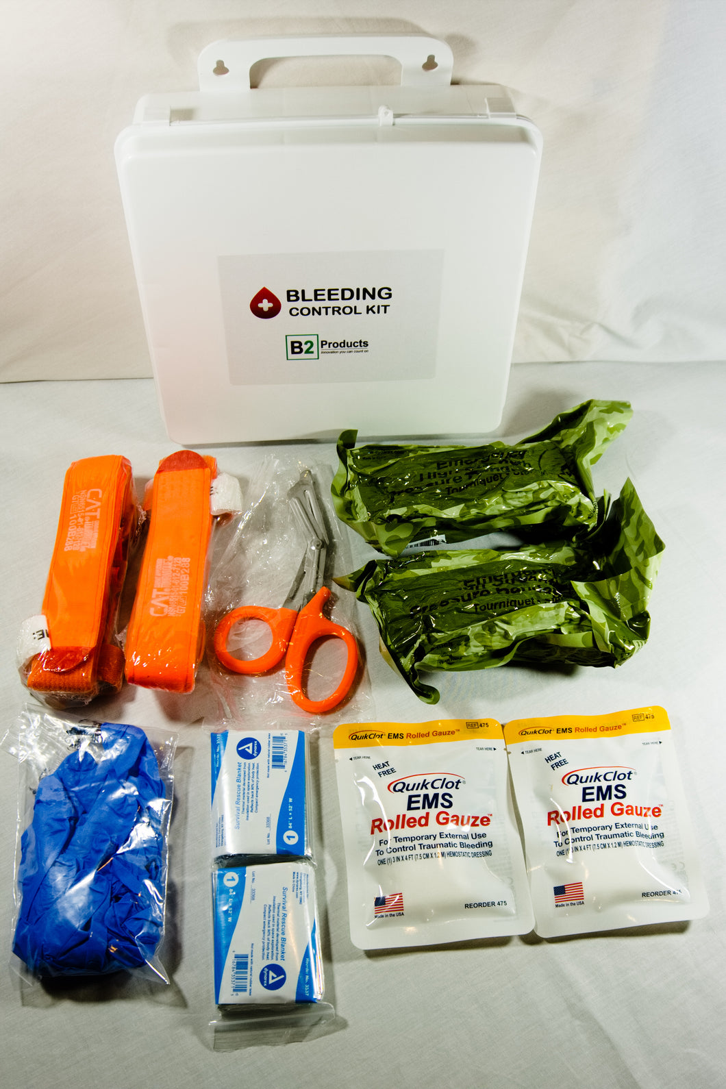 Bleeding Control Kit- Large Box w/Quik Clot