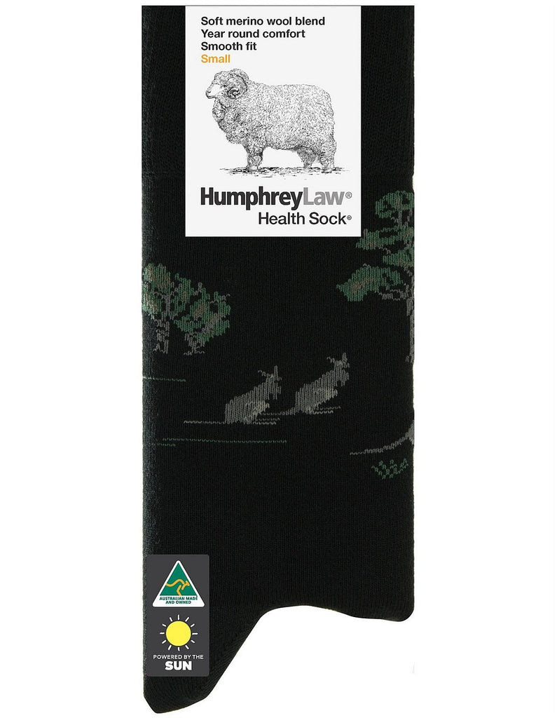 Humphrey Law 85C Kangaroo Socks Black