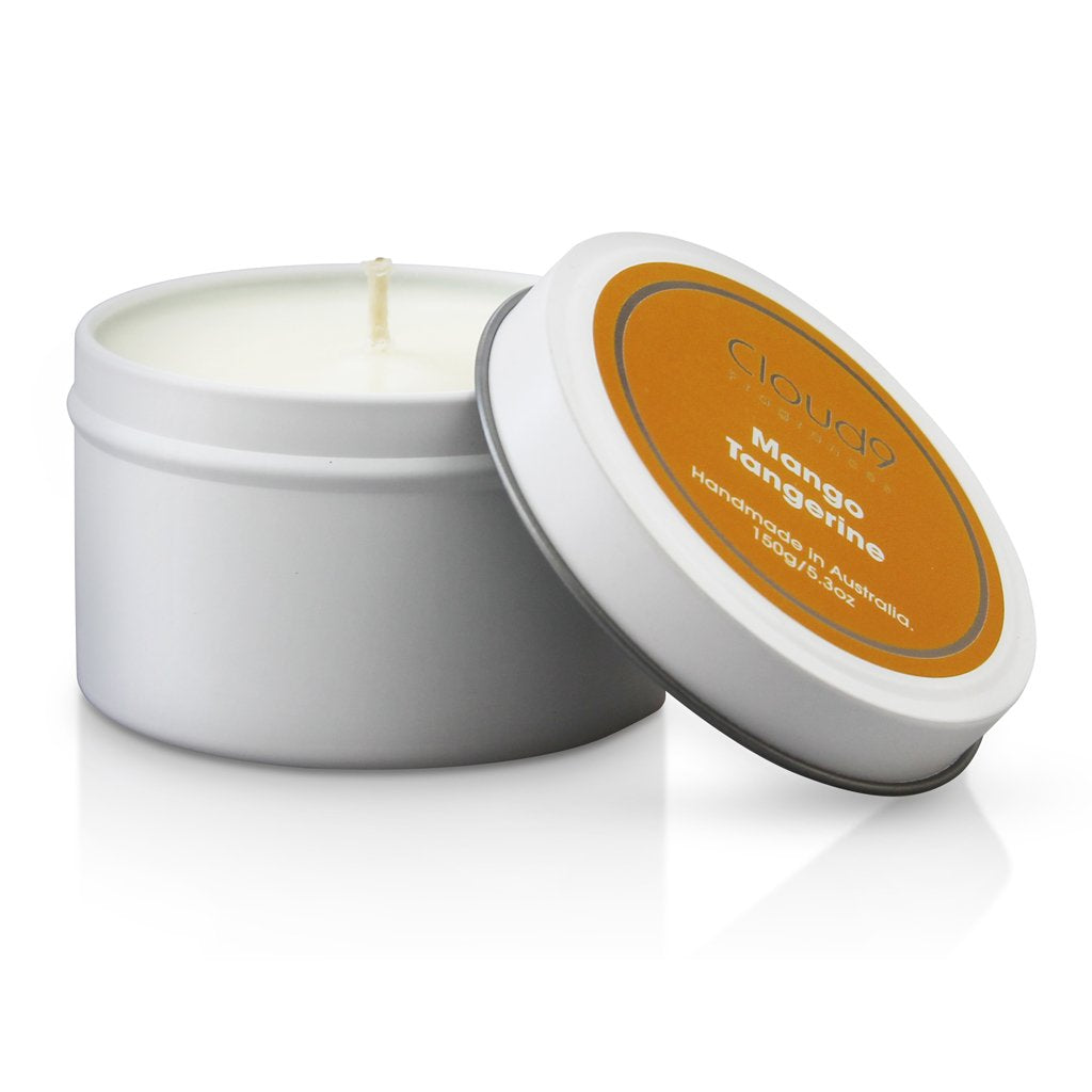 Cloud 9 Fragrances Mango & Tangerine Tin Candle 150g