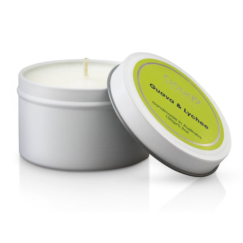 Cloud 9 Fragrances Guava & Lychee Tin Candle 150g