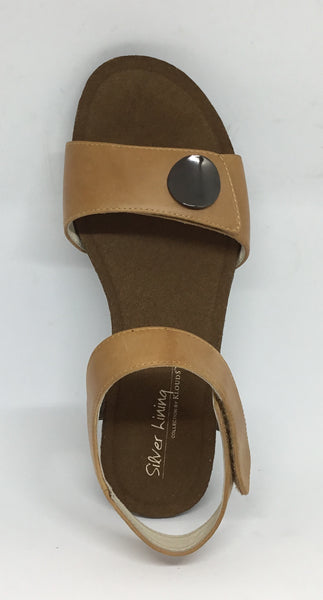 Klouds Silver Lining Happy Tan Leather sandal