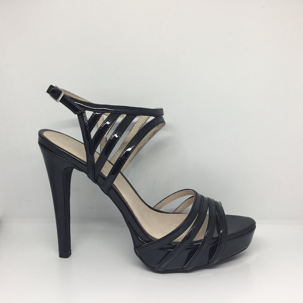Wild Rose Summer Black Heel