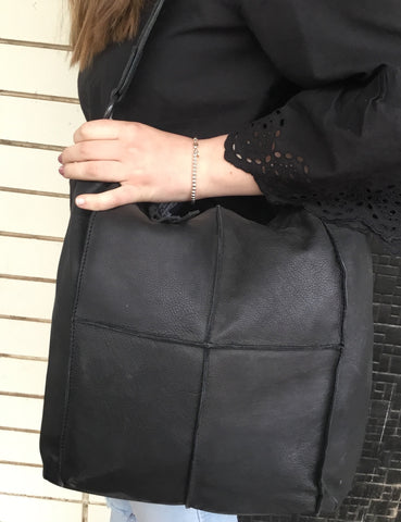 Modapelle Black Leather Bag 3830