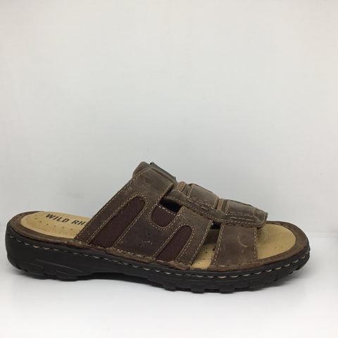 Wild Rhino Josh Chocolate Leather Sandal