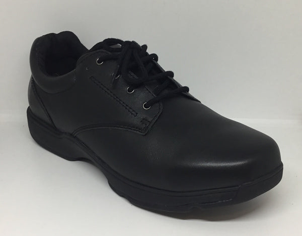 Surefit Dion Black Leather School Shoe